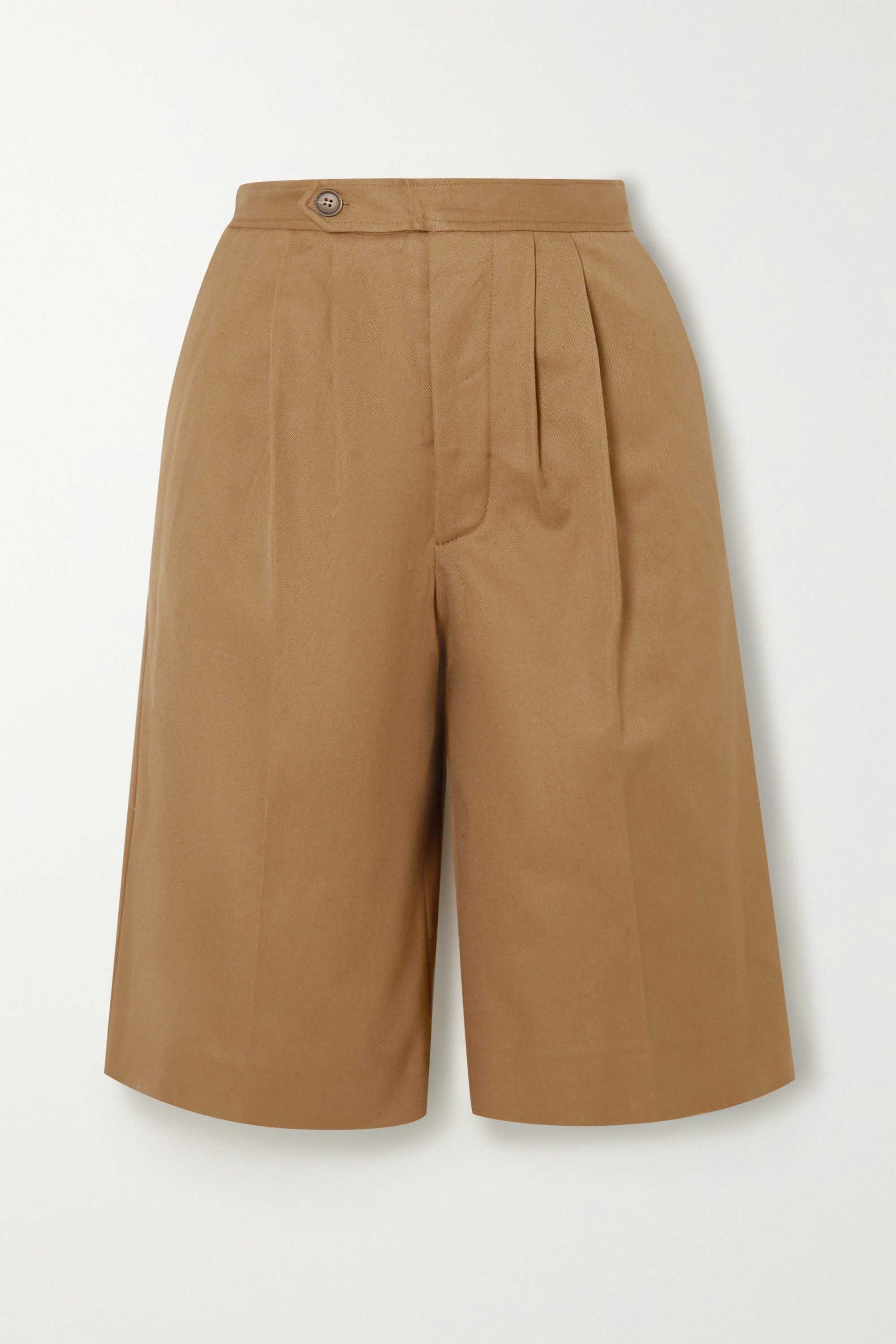 King & Tuckfield Cotton-twill shorts