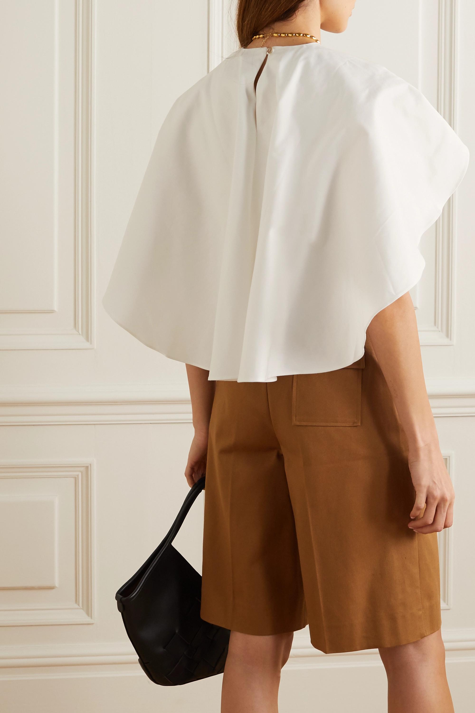King & Tuckfield Cape-effect organic cotton-twill top