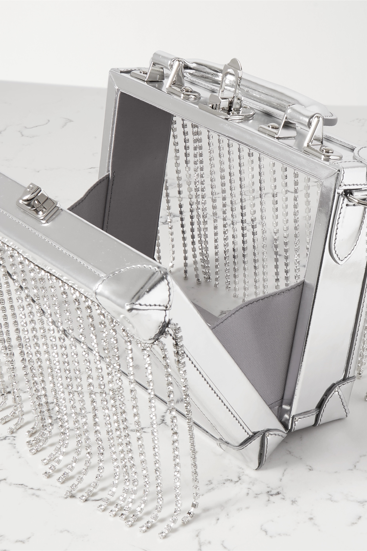 AREA Ling Ling 水晶缀饰金属感皮革边饰 PVC 手提包