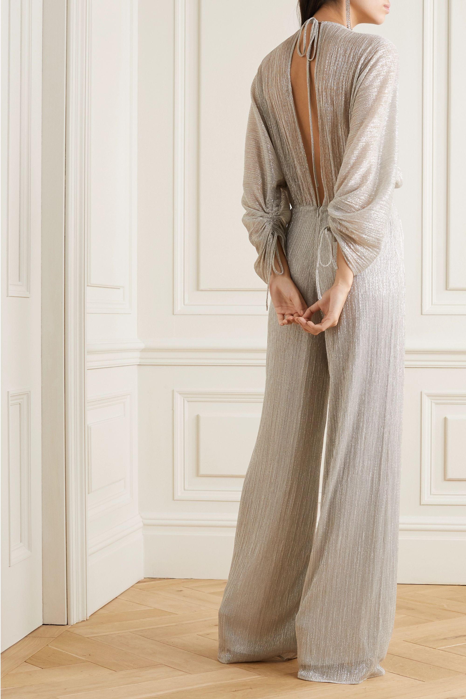 Vanessa Cocchiaro The Wu metallic plissé-chiffon jumpsuit