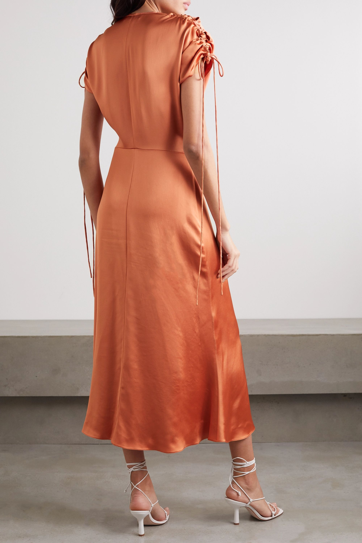Vanessa Cocchiaro The Clara ruched satin midi dress