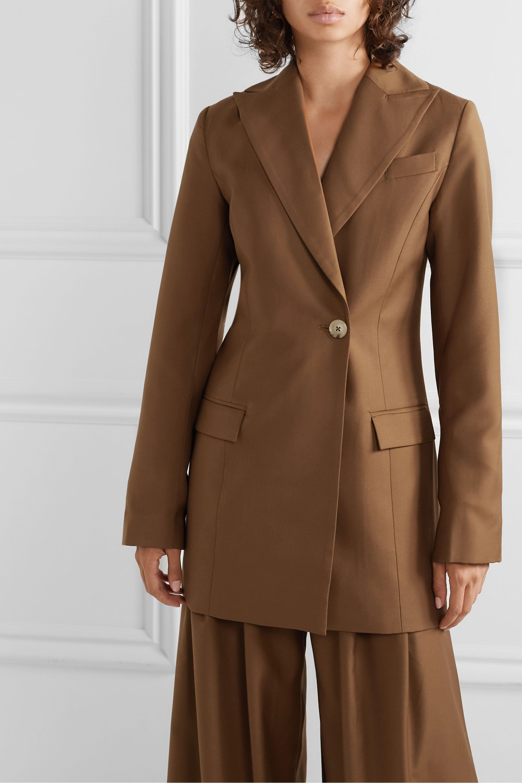 ANNA QUAN Sienna double-breasted twill blazer