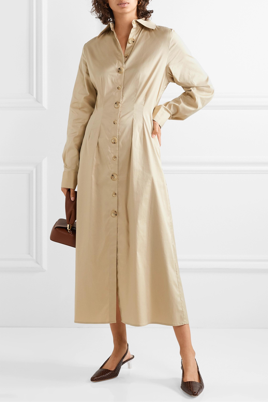 ANNA QUAN Arlo cotton-blend poplin midi dress