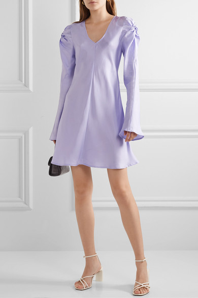 + Net Sustain Just In Time Knotted Silk Satin Mini Dress by Maggie Marilyn
