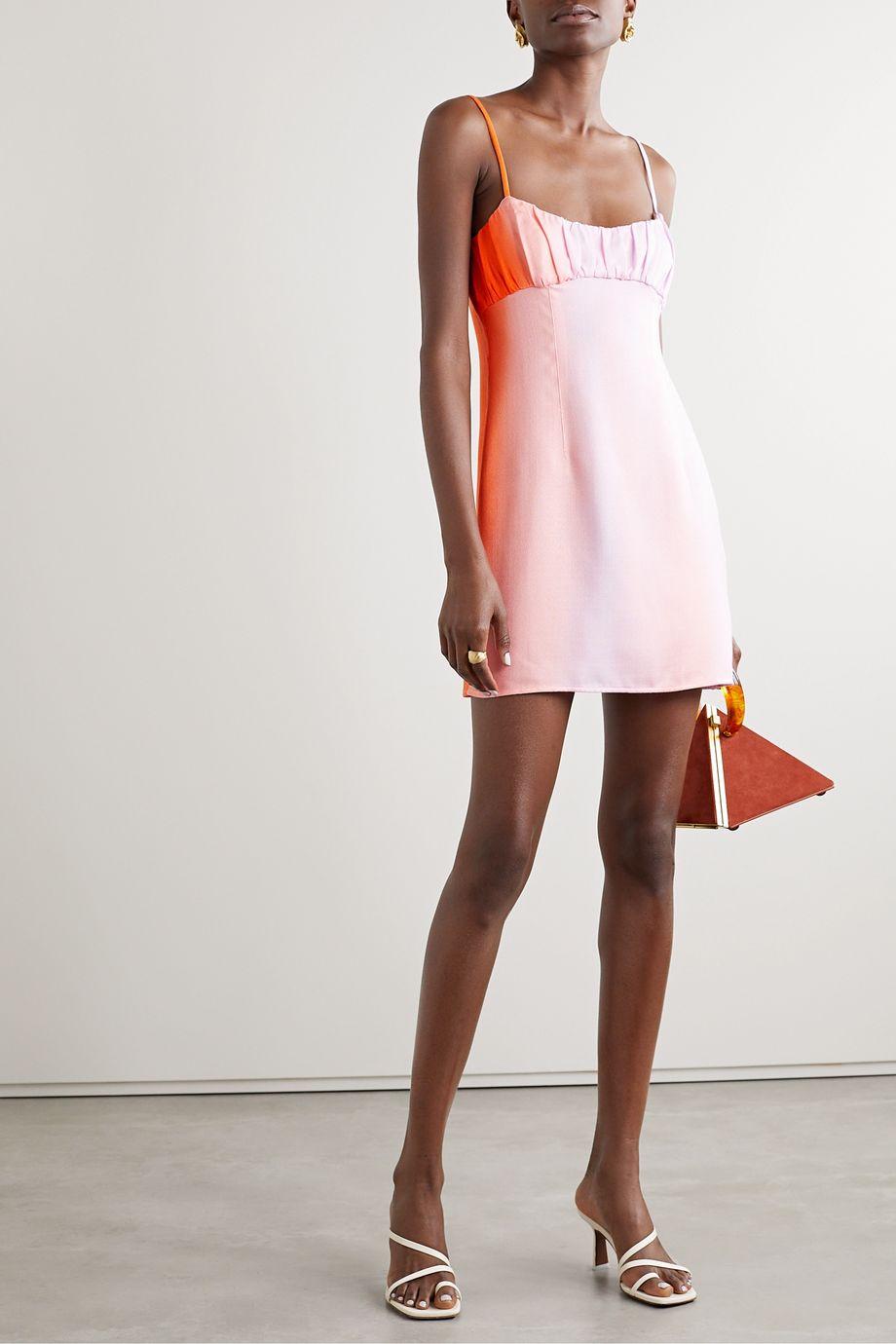 Maggie Marilyn + NET SUSTAIN Powder Sunset ruched dégradé Tencel mini dress