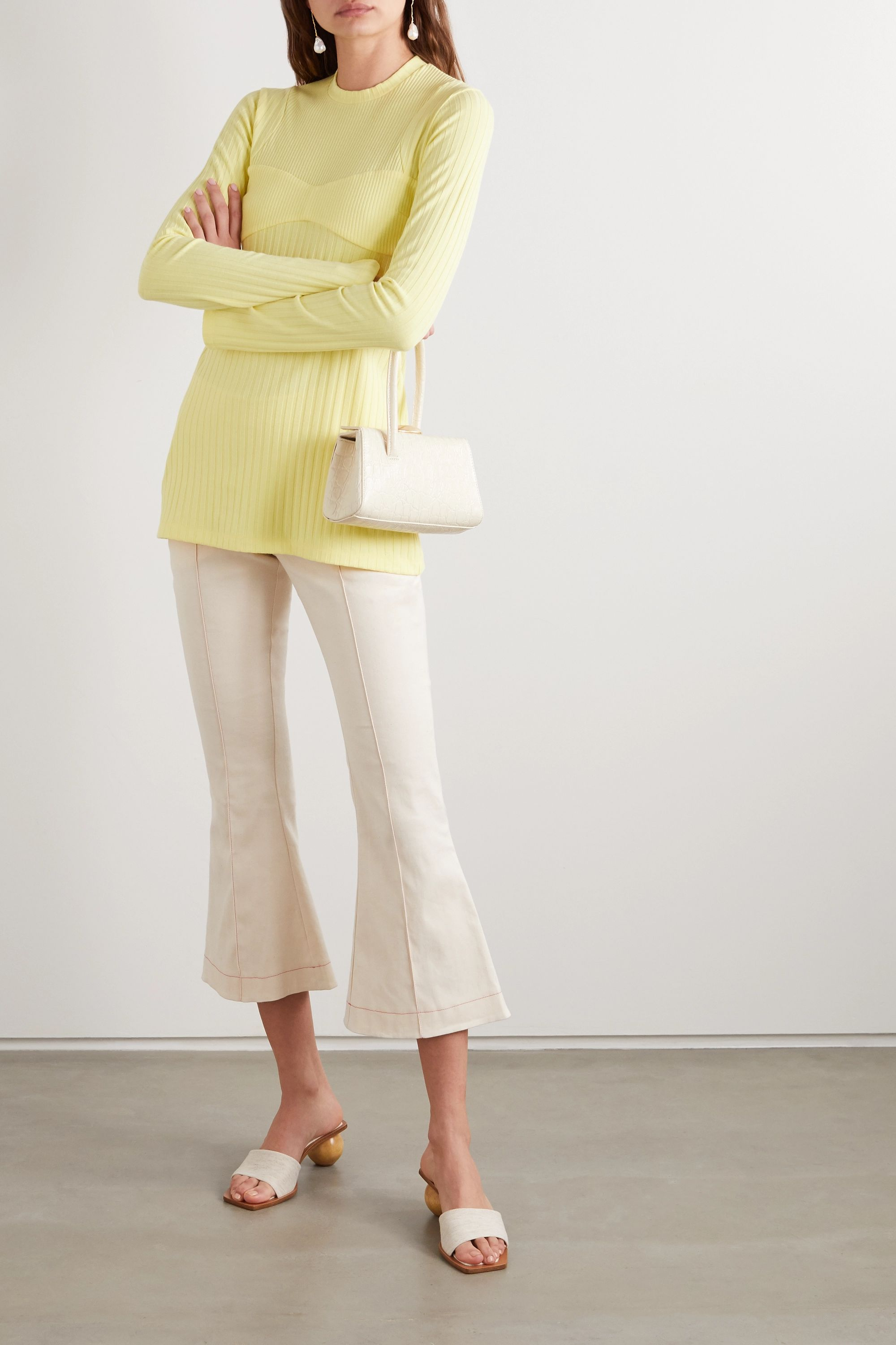 Maggie Marilyn + NET SUSTAIN I'm All In ribbed-knit and satin-crepe dress