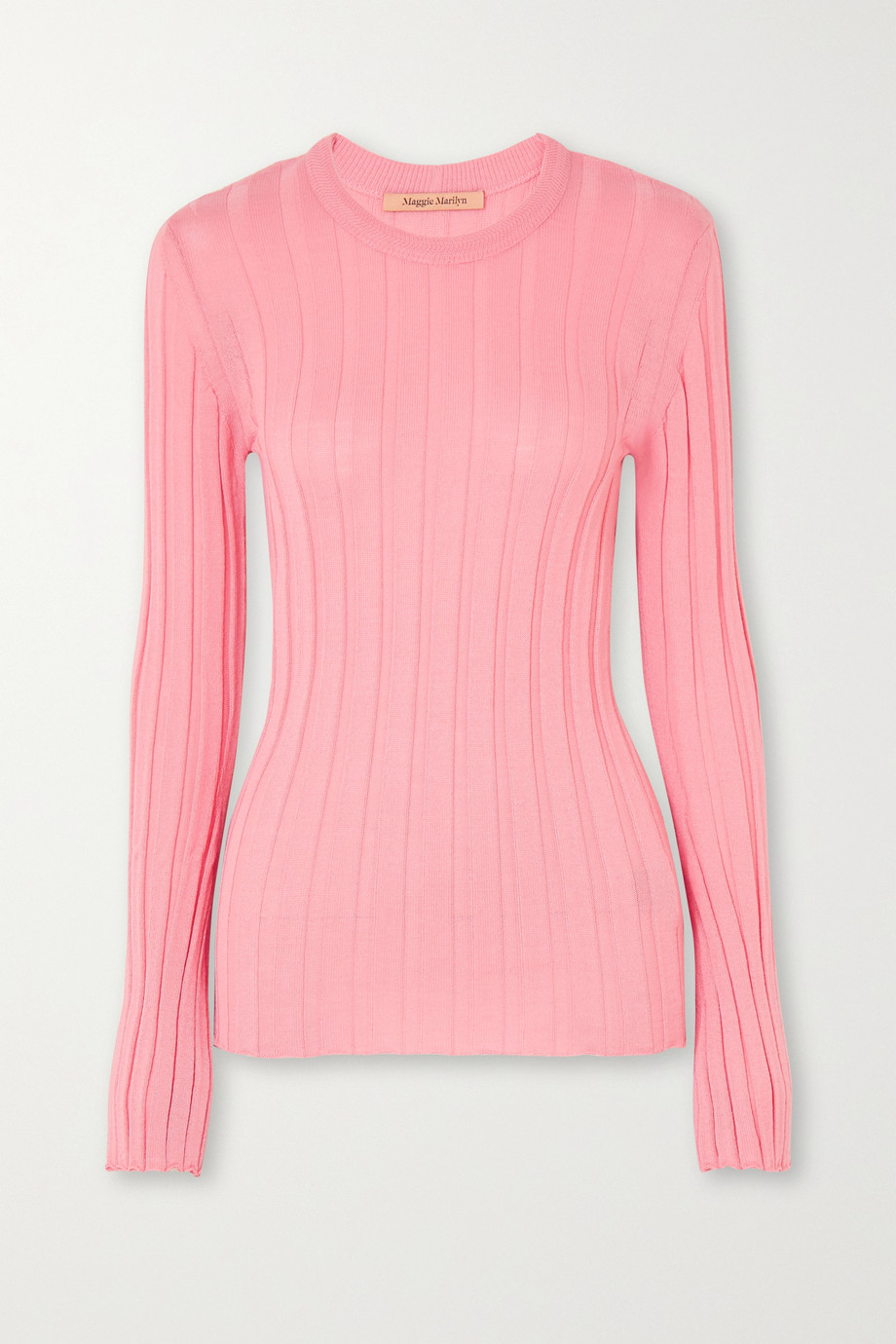 Maggie Marilyn + NET SUSTAIN The Sherbet wool-blend ribbed-knit sweater