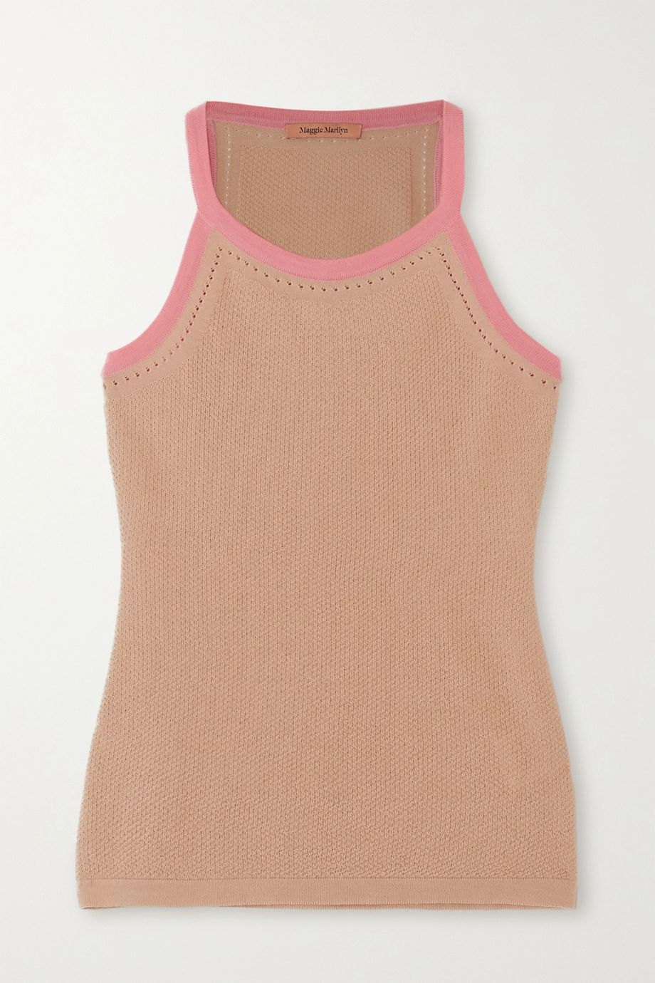 Maggie Marilyn For Old Times' Sake two-tone merino wool-blend top