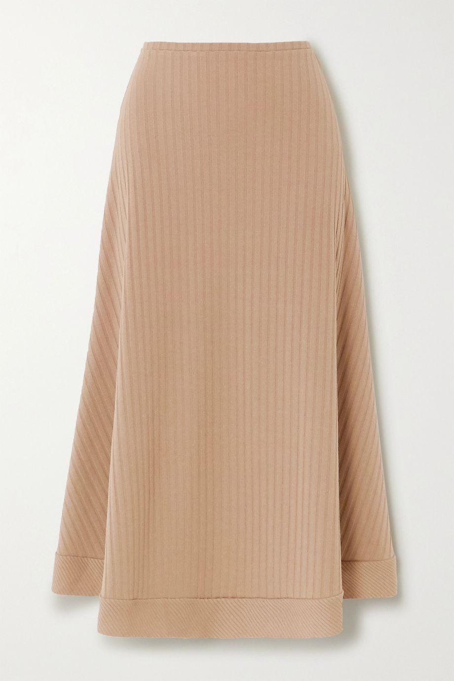 Maggie Marilyn + NET SUSTAIN Sandy Strolls ribbed-knit skirt