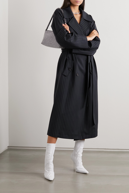 GAUGE81 Nairobi pinstriped wool-blend trench coat