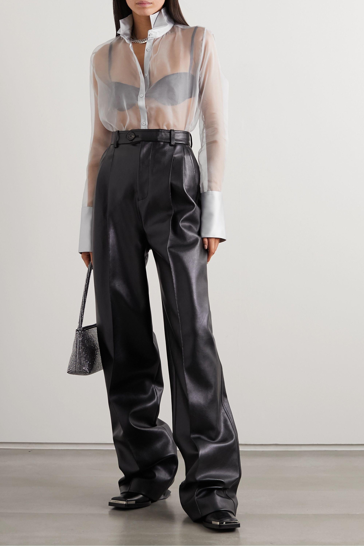GAUGE81 Rio satin-trimmed silk-organza blouse