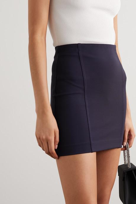 Malibu stretch-crepe mini skirt