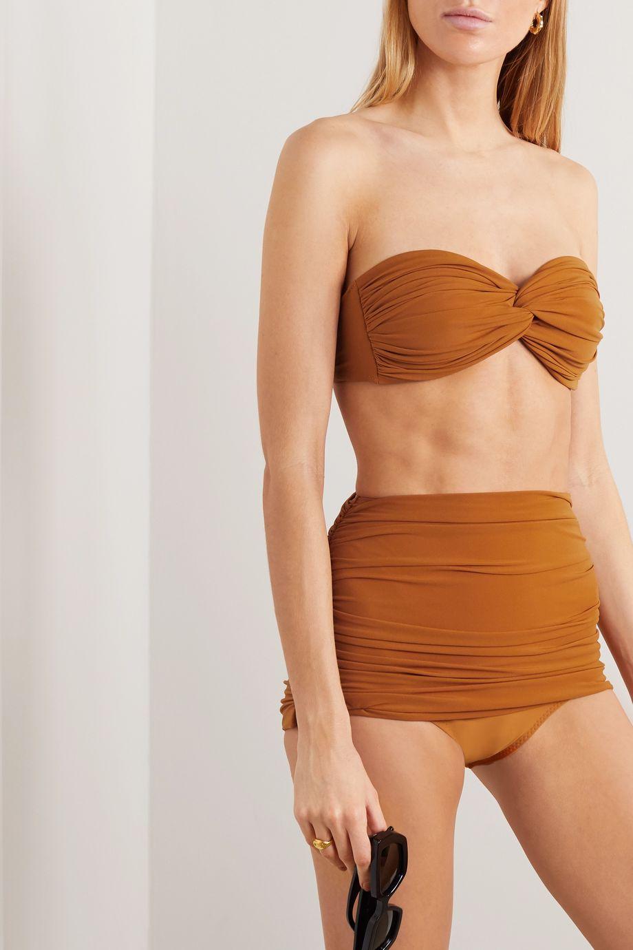 Norma Kamali Haut de bikini bandeau froncé Johnny D