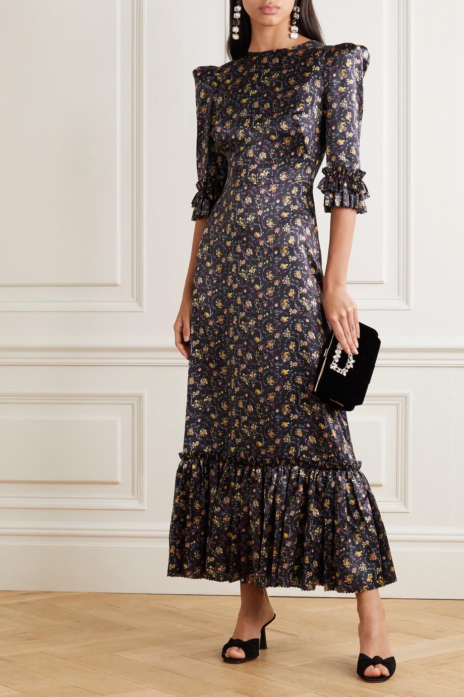 The Vampire's Wife Festival ruffled floral-print silk-satin maxi dress