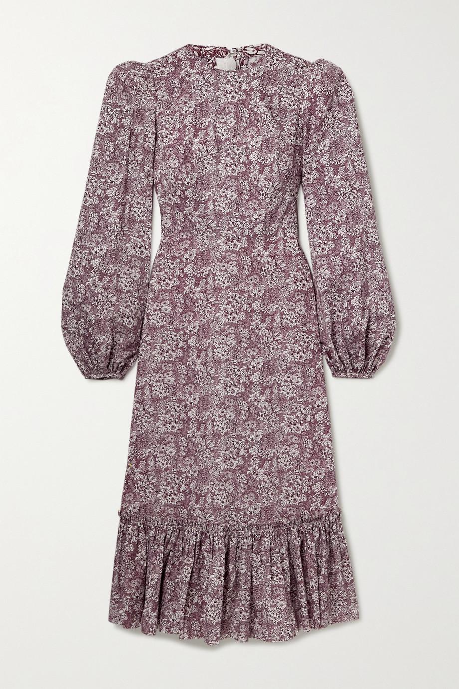 The Vampire's Wife | Belle tiered floral-print cotton-poplin midi dress | NET-A-PORTER.COM