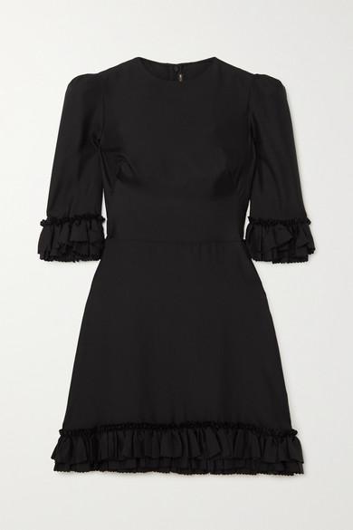 The Vampire's Wife FESTIVAL RUFFLED SILK-TWILL MINI DRESS