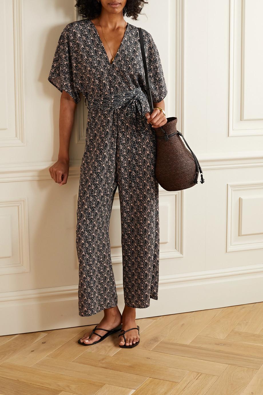 Vanessa Bruno Lelie belted printed cloqué jumpsuit