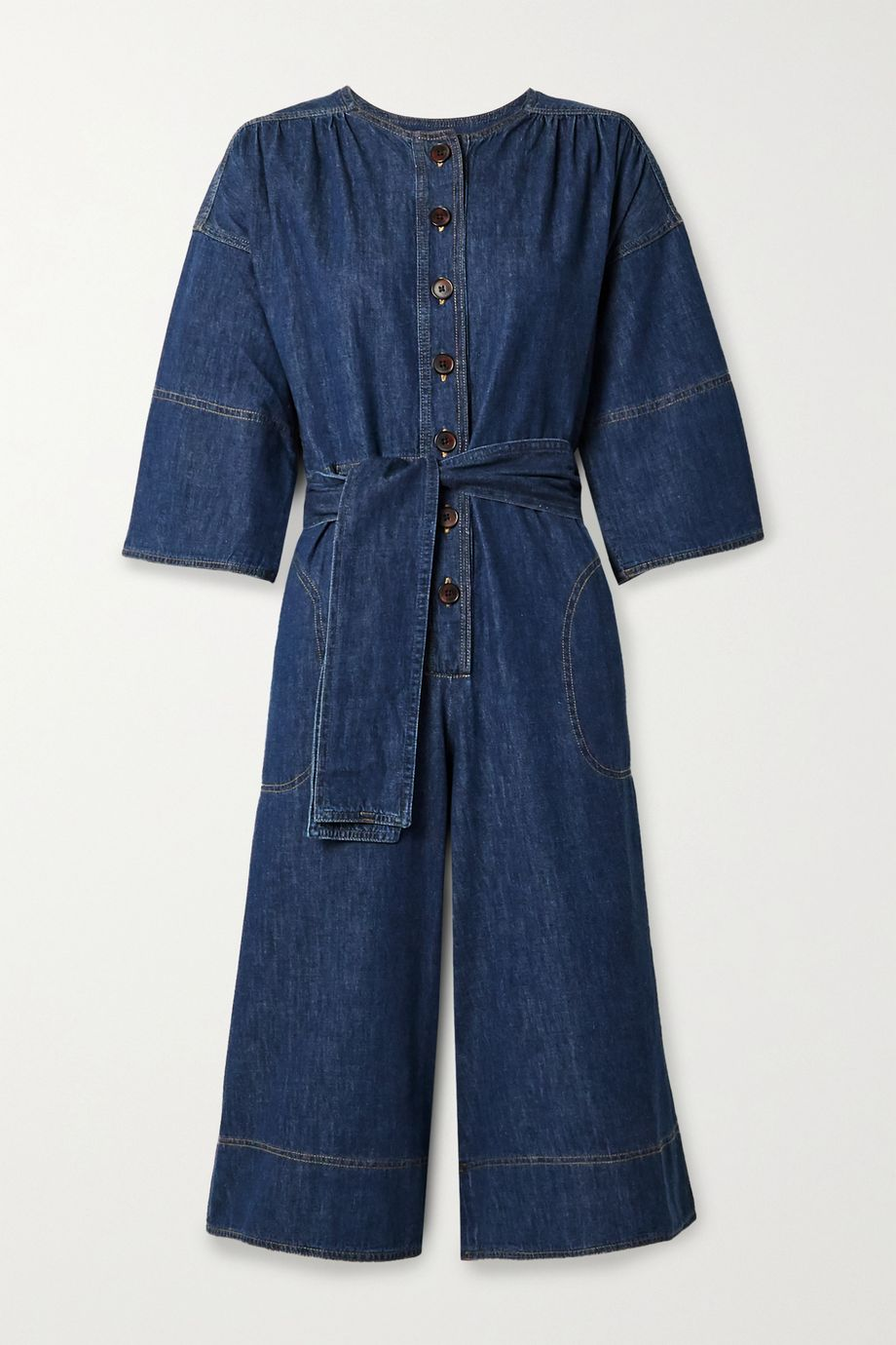 Vanessa Bruno Nikita belted denim jumpsuit