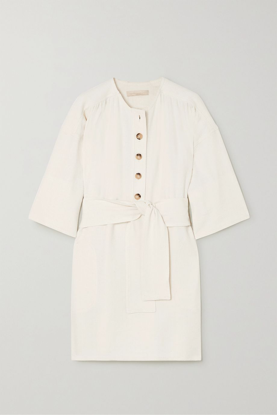 Vanessa Bruno Naomi belted linen and silk-blend mini dress