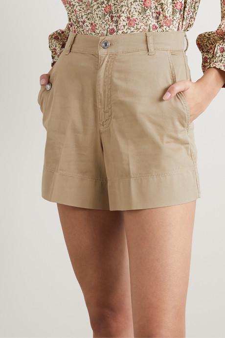Nixia cotton-blend canvas shorts