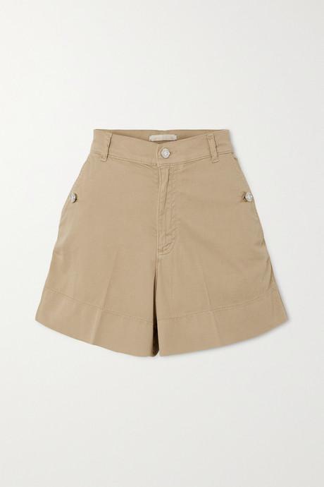 Beige Nixia cotton-blend canvas shorts | Vanessa Bruno 55k5zB