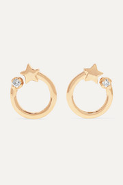 Shooting Star 14-karat gold diamond earrings