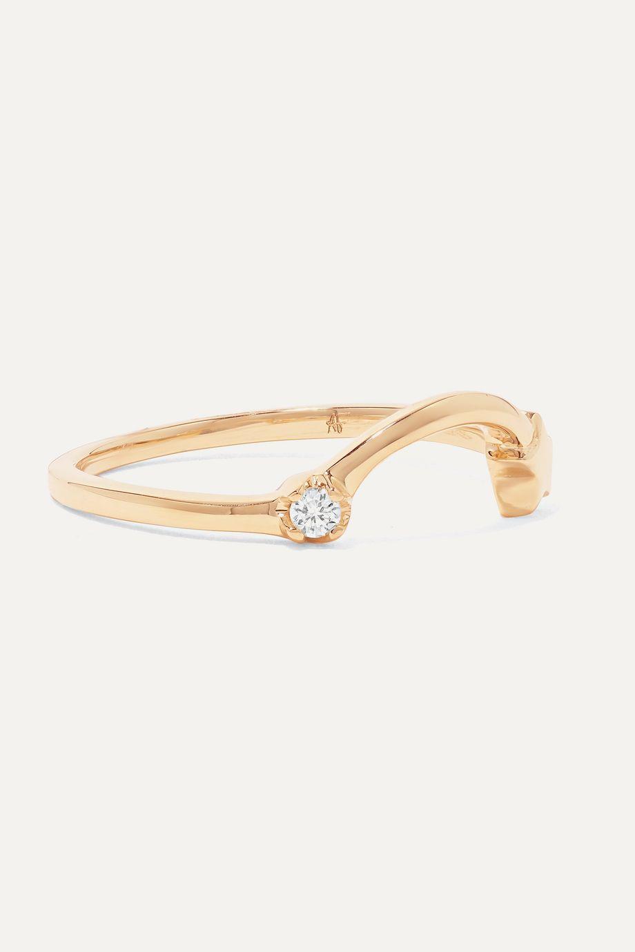 Andrea Fohrman Shooting Star Ring aus 14 Karat Gold mit Diamant