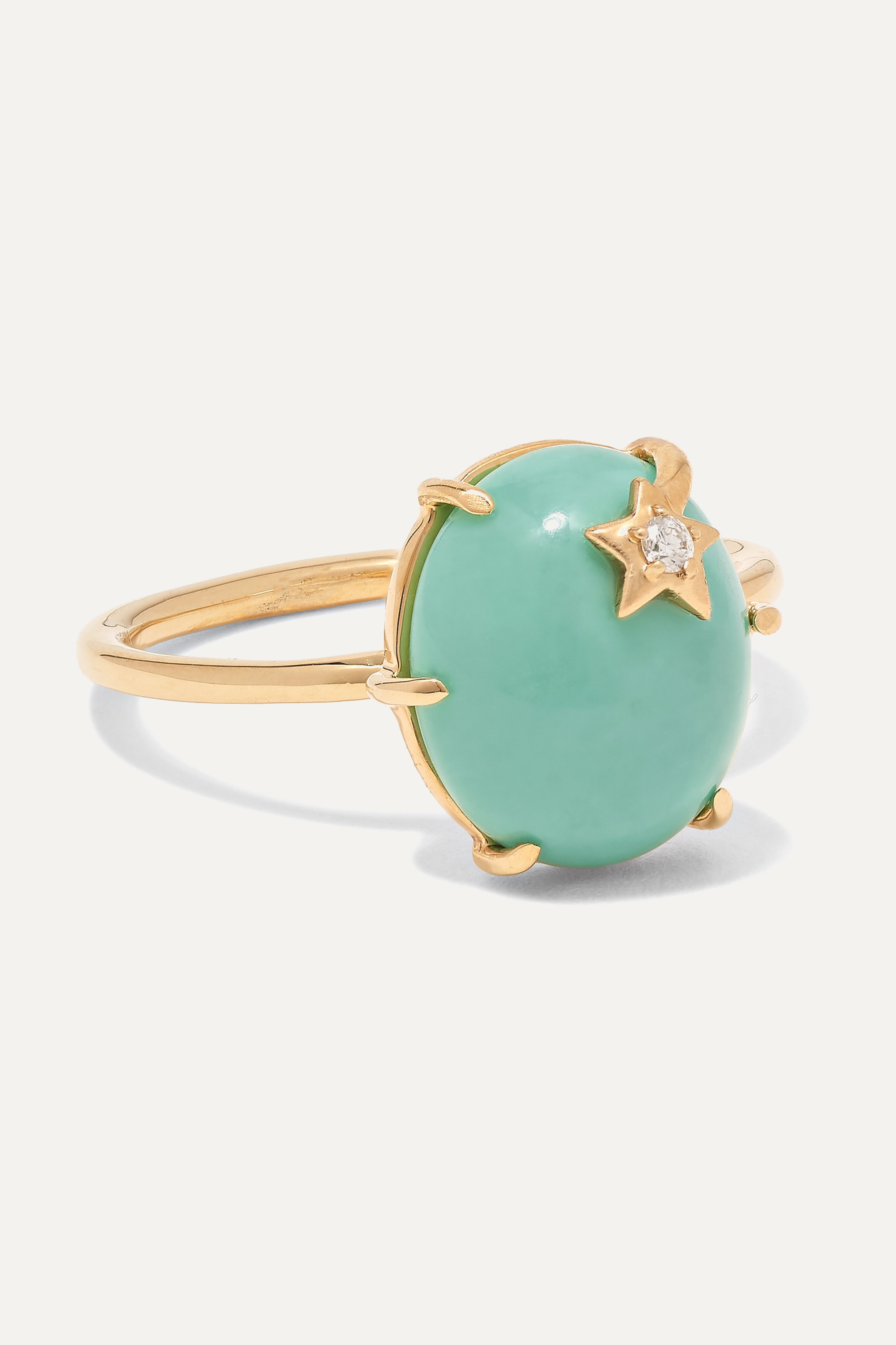 Andrea Fohrman 18-karat gold, turquoise and diamond ring