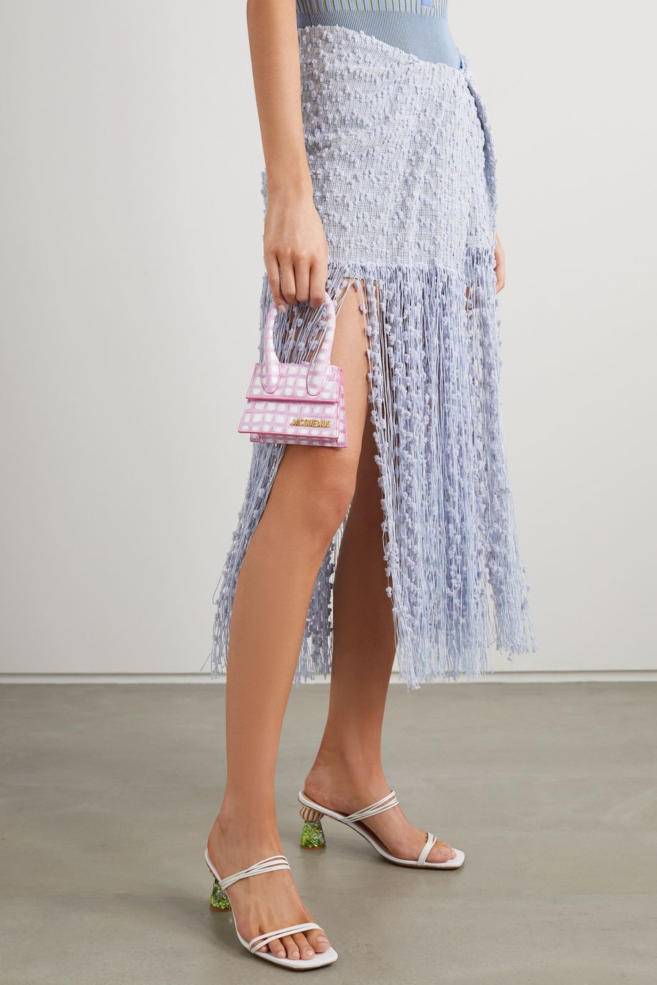 Jacquemus Le Chiquito checked leather tote