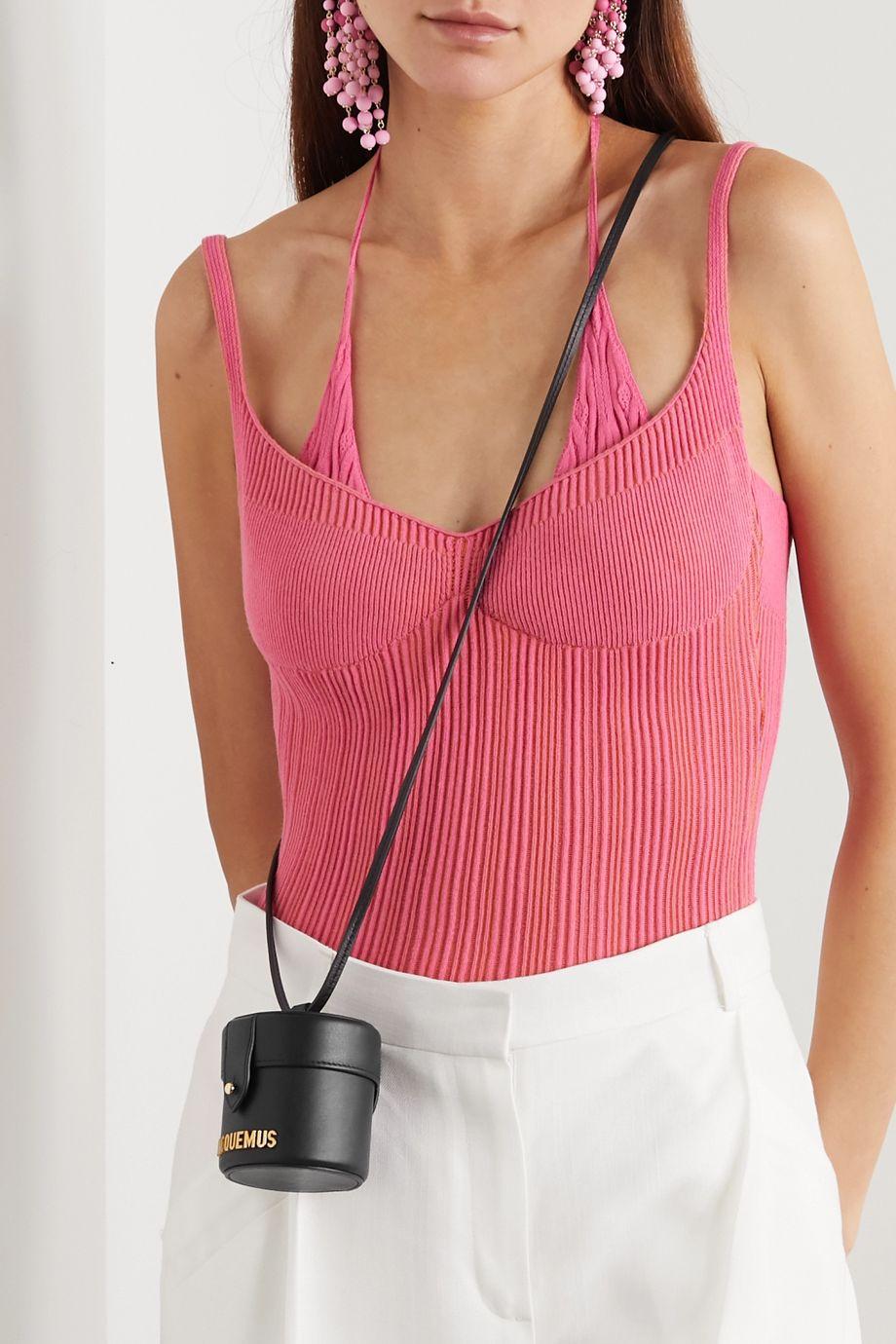 Jacquemus Le Vanity mini leather shoulder bag