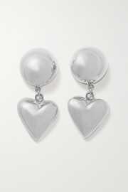 Love silver earrings