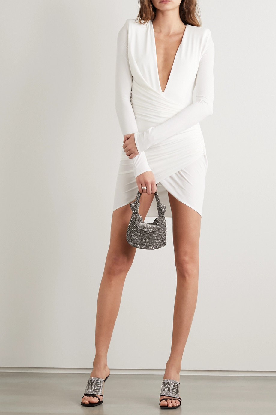 Alexandre Vauthier Ruched stretch-jersey mini dress
