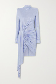 Alexandre Vauthier Ruched draped crystal-embellished stretch-jersey mini dress