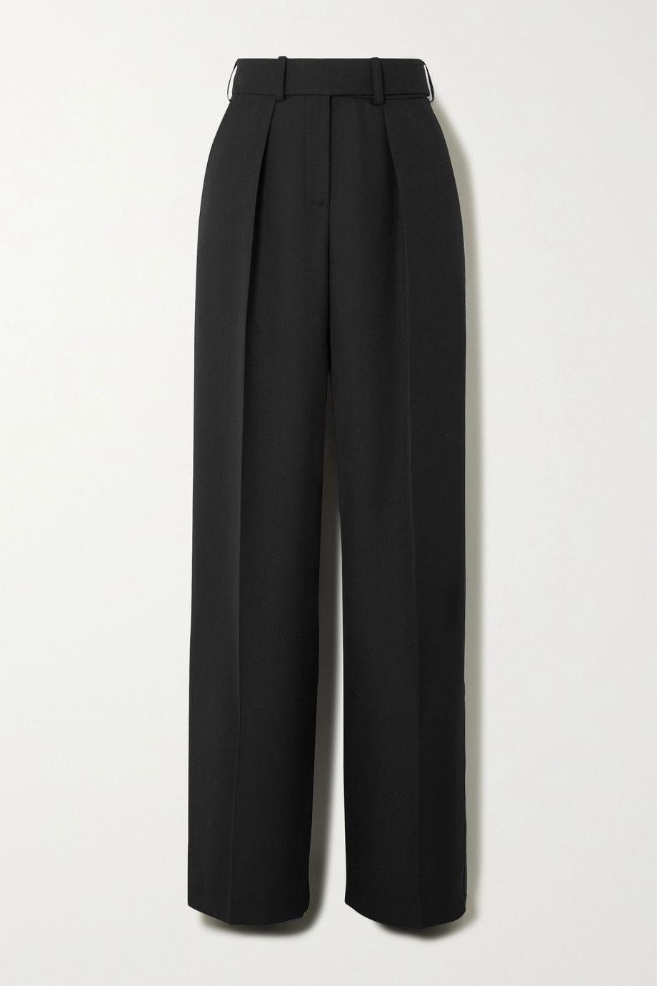 Alexandre Vauthier Wool-gabardine wide-leg pants