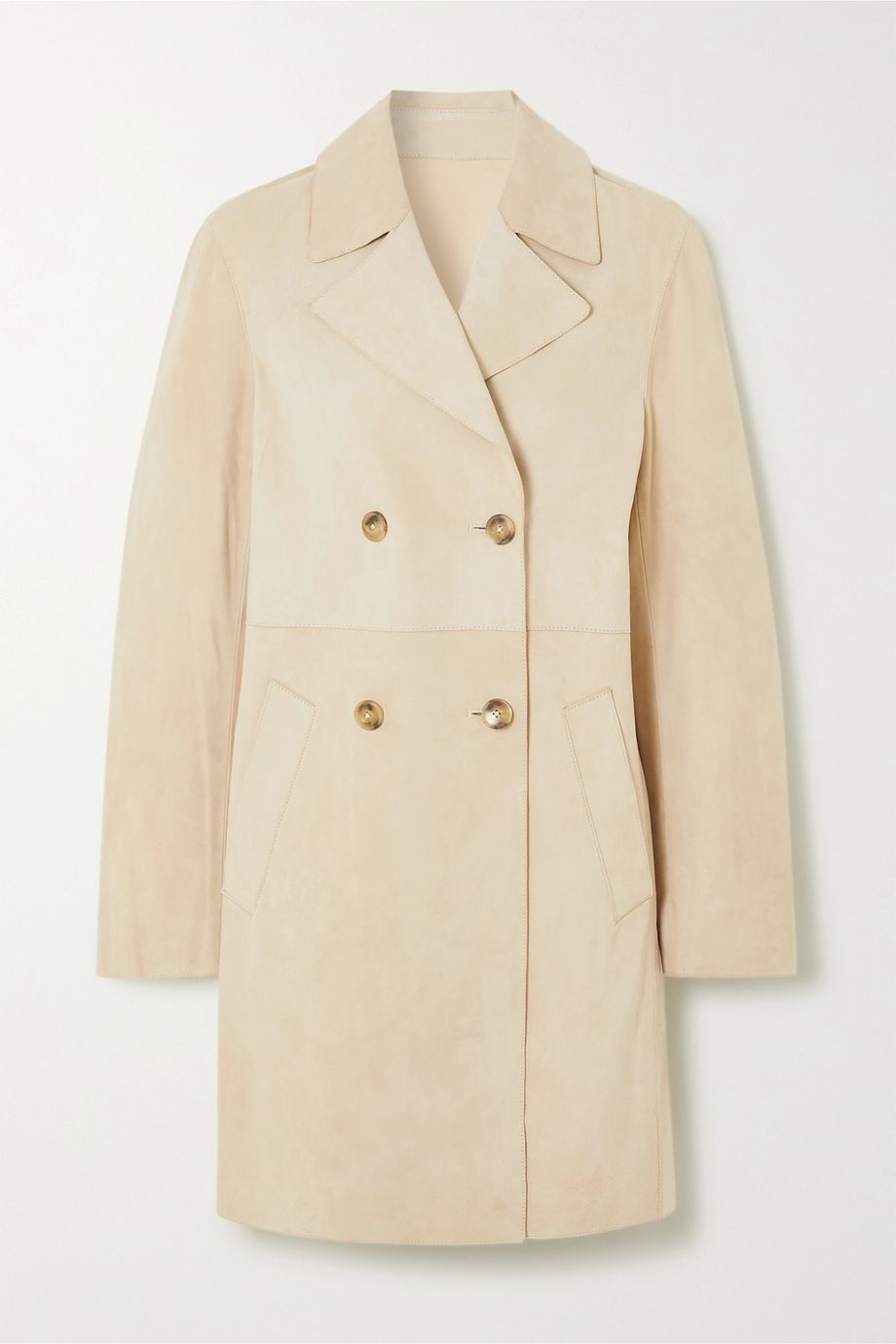Yves Salomon Leah double-breasted suede coat