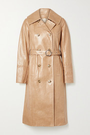 Cracked patent-leather trench coat