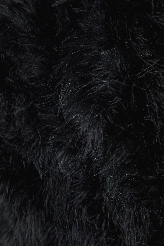 Yves Salomon Feather-embellished satin coat