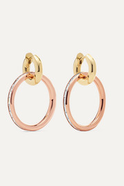 Spinelli Kilcollin Theano 18-karat rose and yellow gold diamond hoop earrings