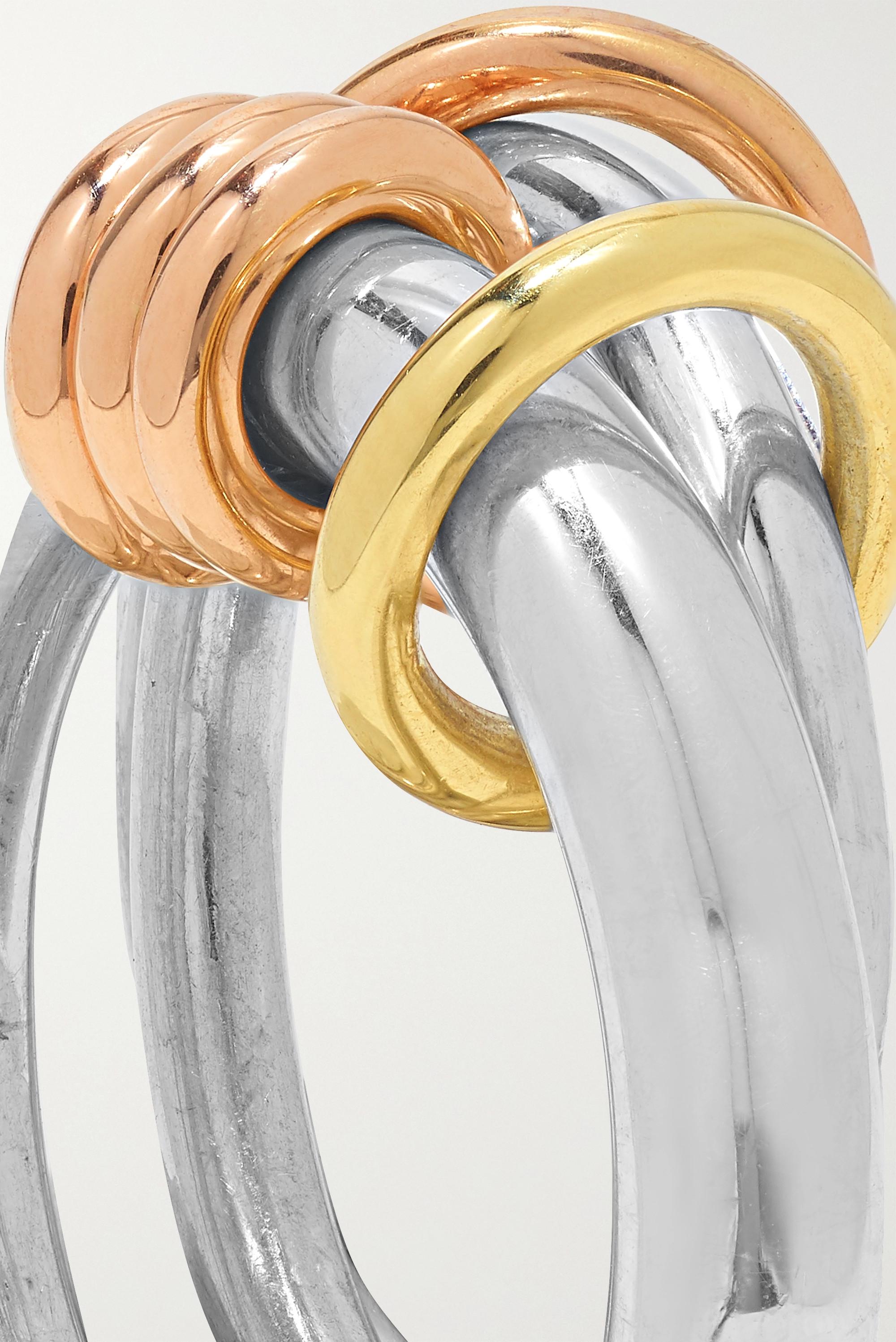 Spinelli Kilcollin Set de trois bagues en argent sterling et en or jaune et rose 18 carats Orion