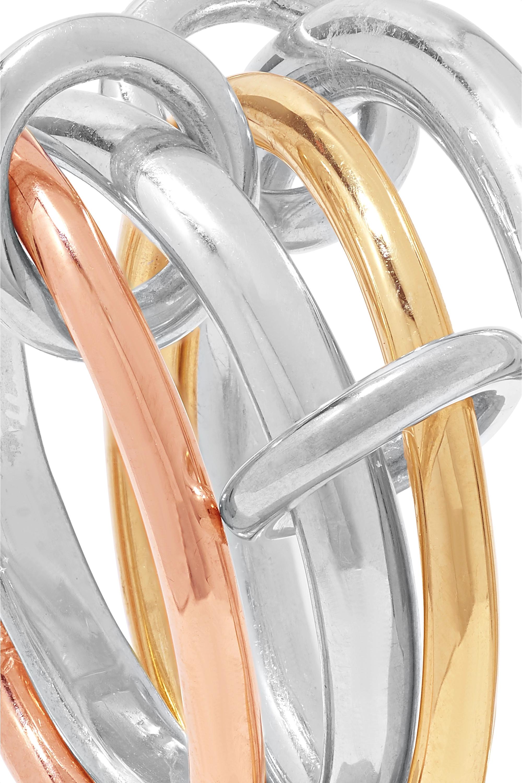 Spinelli Kilcollin Set de quatre bagues en or rose et jaune 18 carats et en argent sterling Hyacinth