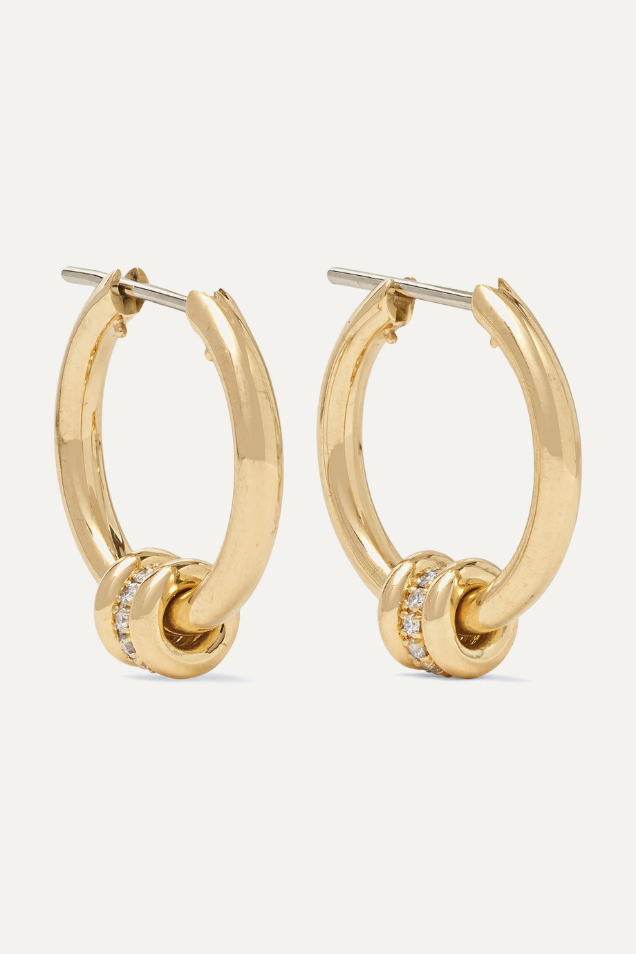 Spinelli Kilcollin Ara 18-karat gold diamond hoop earrings