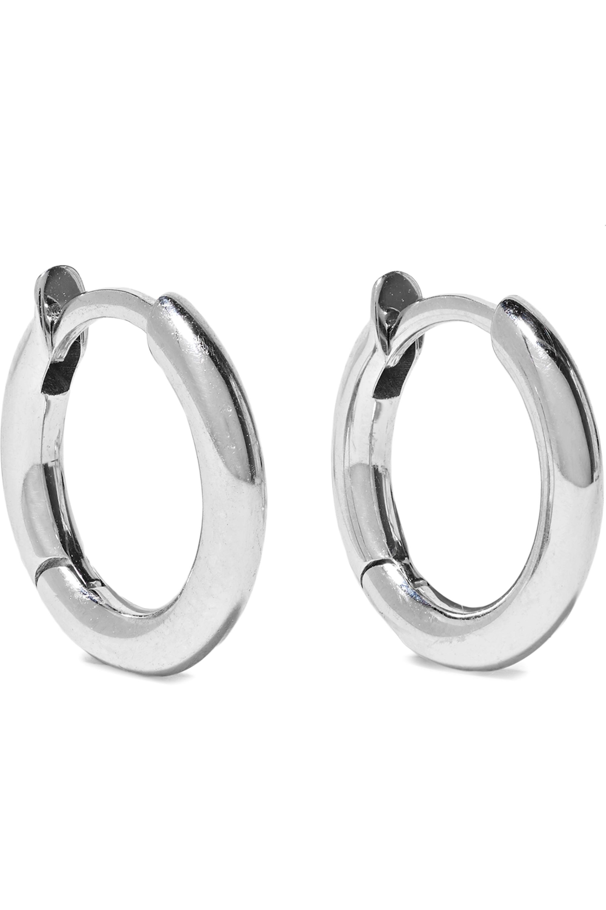 Spinelli Kilcollin Altaire Noir 18-karat white and rose gold and rhodium-plated earrings