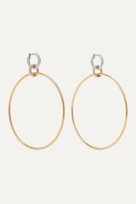 Gold Altaire 18-karat yellow and white gold diamond earrings   Spinelli Kilcollin O6NqUZ