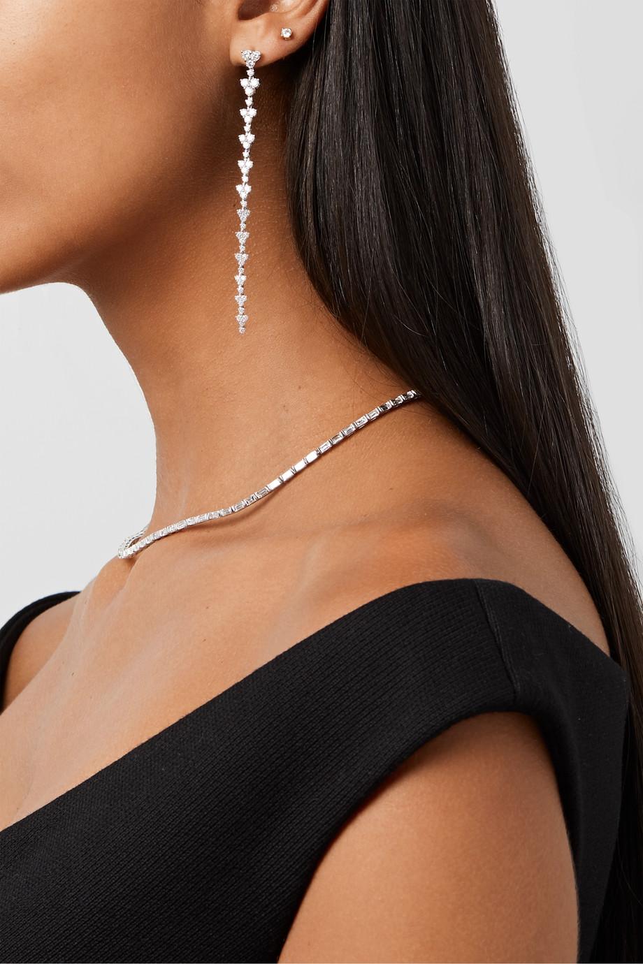 Anita Ko Boucles d'oreilles en or blanc 18carats et diamants