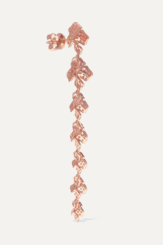 Anita Ko 18-karat rose gold diamond earrings