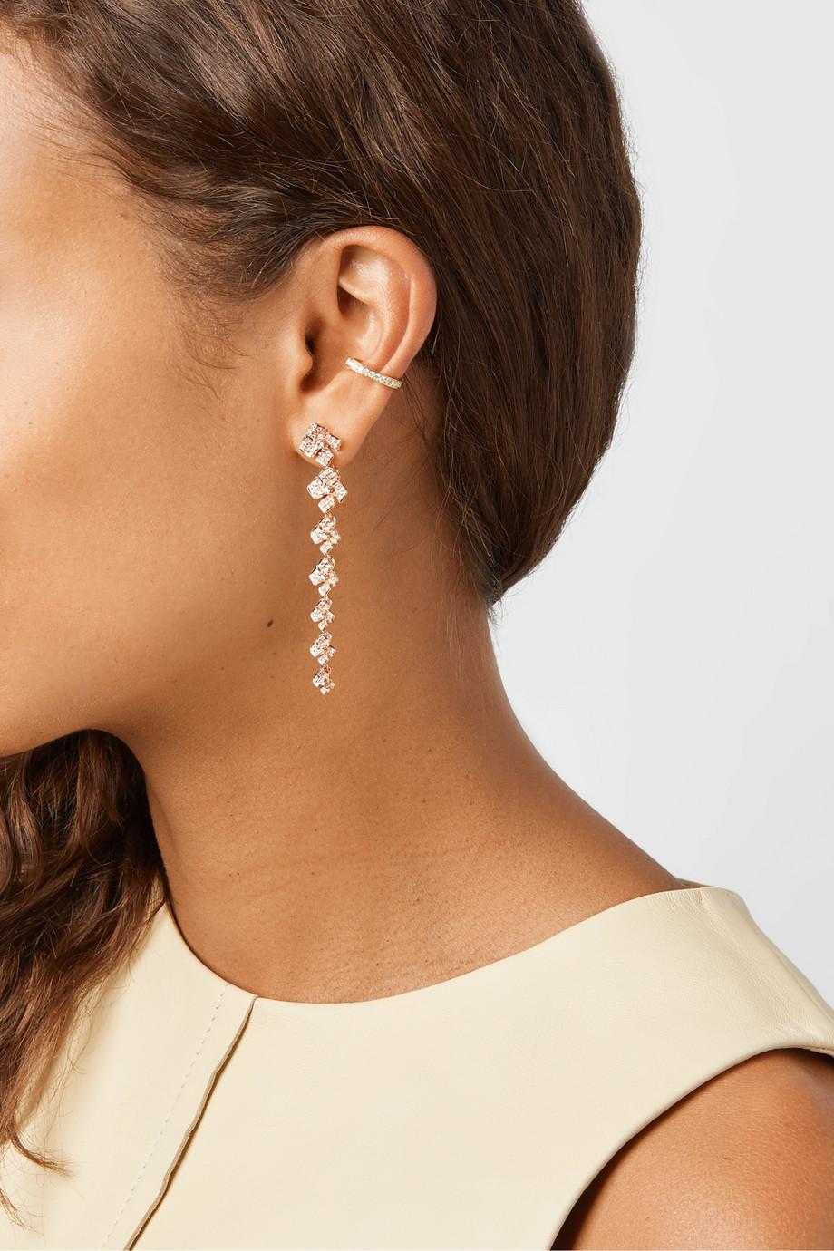 Anita Ko Boucles d'oreilles en or rose 18carats et diamants