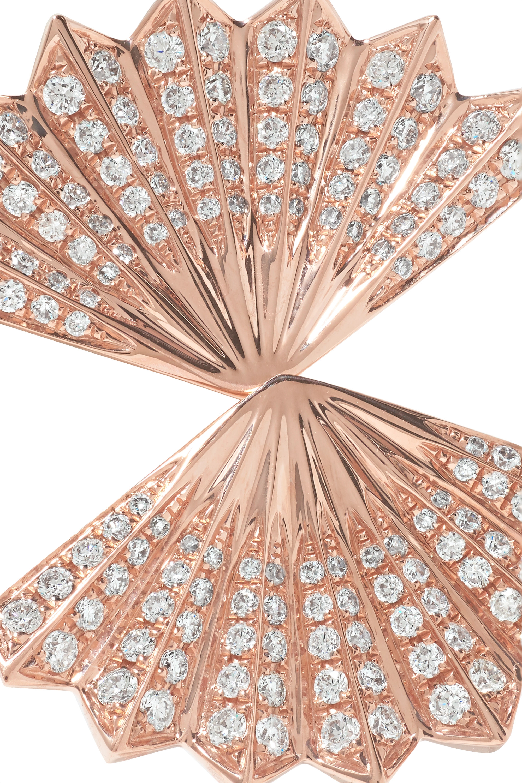 Anita Ko Double Fan Ohrringe aus 18 Karat Roségold mit Diamanten