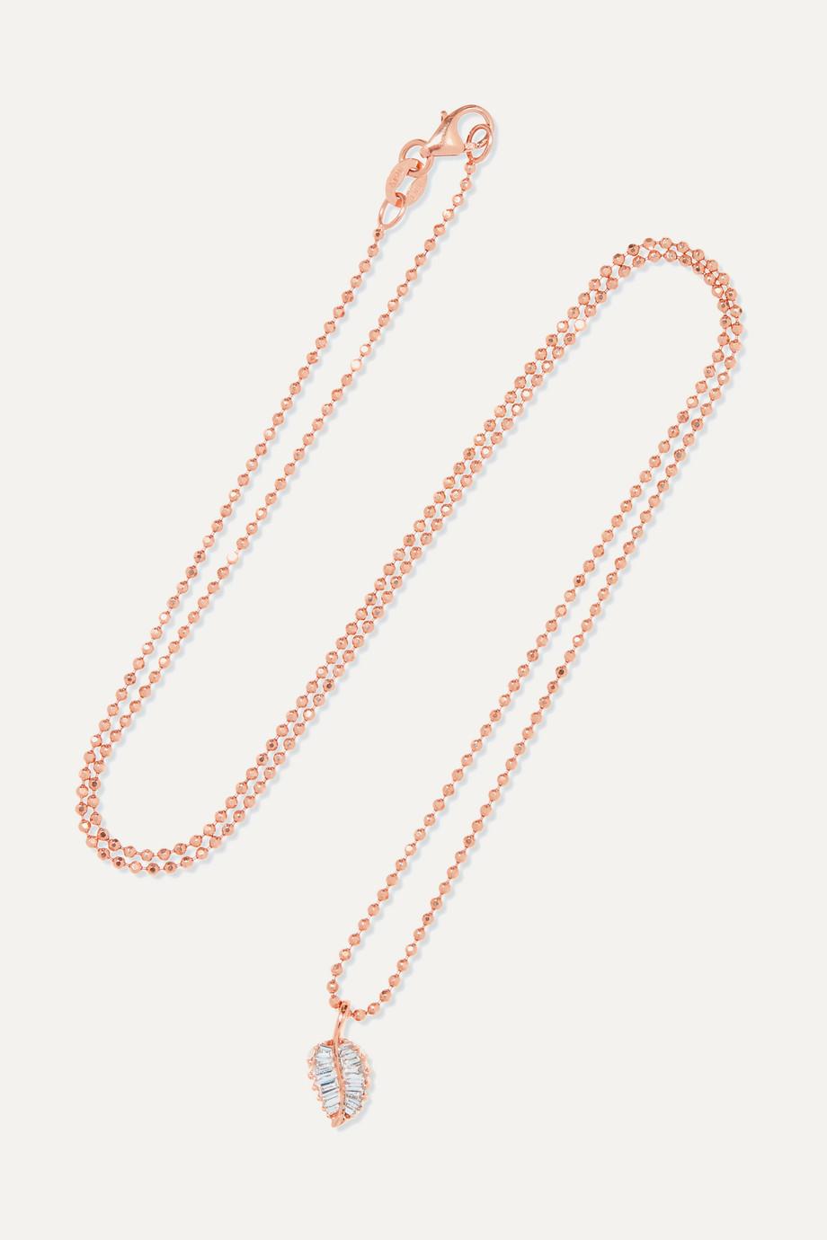 Anita Ko Collier en or rose 18 carats et diamants
