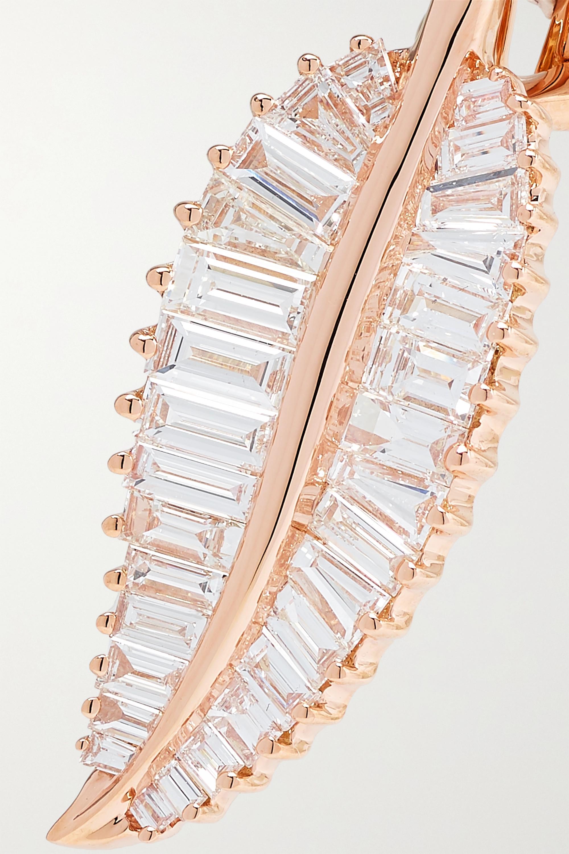 Anita Ko Palm Leaf 18-karat rose gold diamond earrings