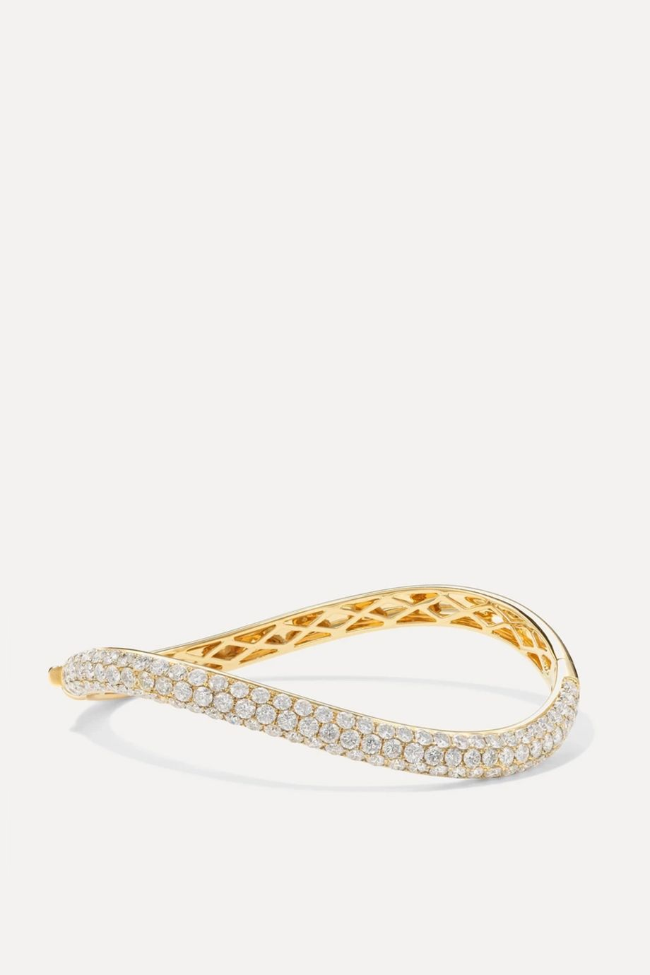 Anita Ko 18-karat gold diamond bangle
